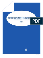 District Governors Training Manual 2009-2010