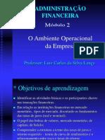 2 - O AMBIENTE OPERACIONAL DA EMPRESA Módulo 2