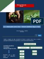 2 - CN 8 - interacção seres vivos-factor abiótico água e solo