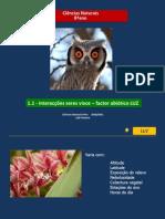 3 - CN 8 - interacção seres vivos-factor abiótico LUZ