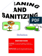 Cleaning, Sanitizing and Food Safety