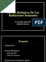 Efectos Biológicos de las Radiaciones Ionizantes Versión corta