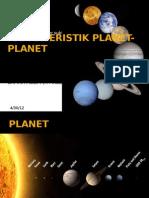 Karakteristik Planet Planet