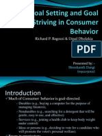 Goal Setting and Goal Striving in Consumer Behavior