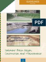 Sediment Basin Design_guidelines