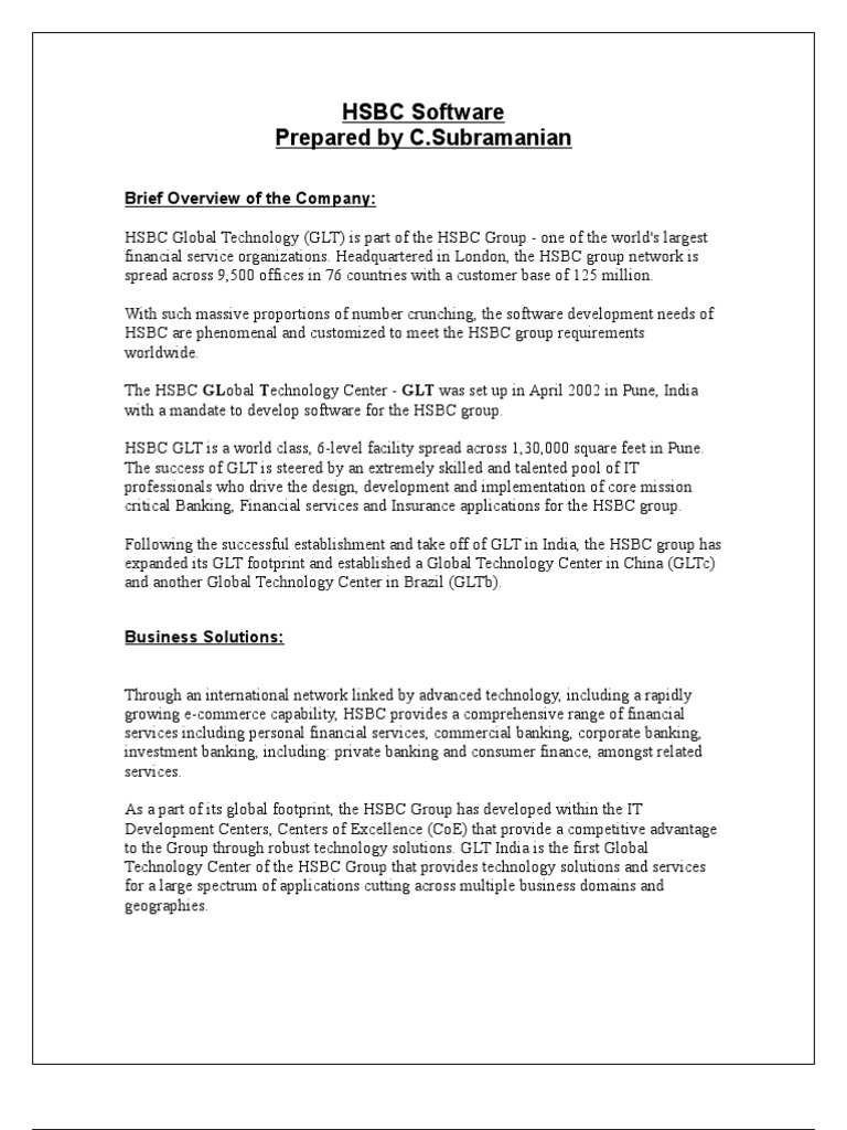Hsbc Software | Hsbc | Brand