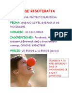 Cartel Informativo Taller de Risoterapia Noviembre 2011