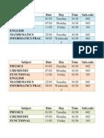 Board Timetable