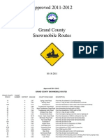 Approved Snowmobile Routes