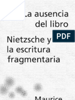 Blanchot, Maurice - La Ausencia Del Libro