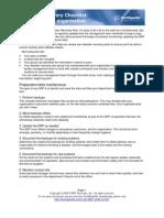 DR Checklist