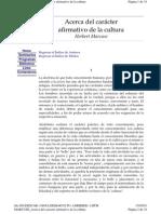 Marcuse, Herbert - Acerca Del Caracter Afirmativo de La Cultura
