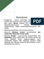 3. Demokrasi