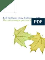 Risk Intelligent Proxy Disclosures 2011