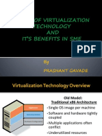 Study of Virtualization Technology AND IT'S benefits in SME