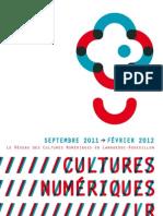 Le réseau de Acteurs des Cultures Numériques en Languedoc-Roussillon. Septembre 2011 > Février 2012