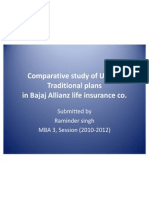 Comparative Study of ULIP & Traditional Plans