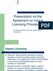 Import Licensing Procedures
