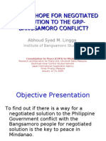 Is There Hope for Negotiated Solution to The GRP-Bangsamoro Conflict?