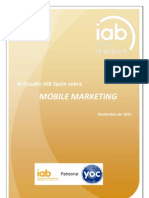 III Estudio IAB Spain Sobre Mobile Marketing