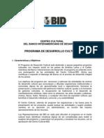 Convocatoria BID Proyectos Culturales 2012