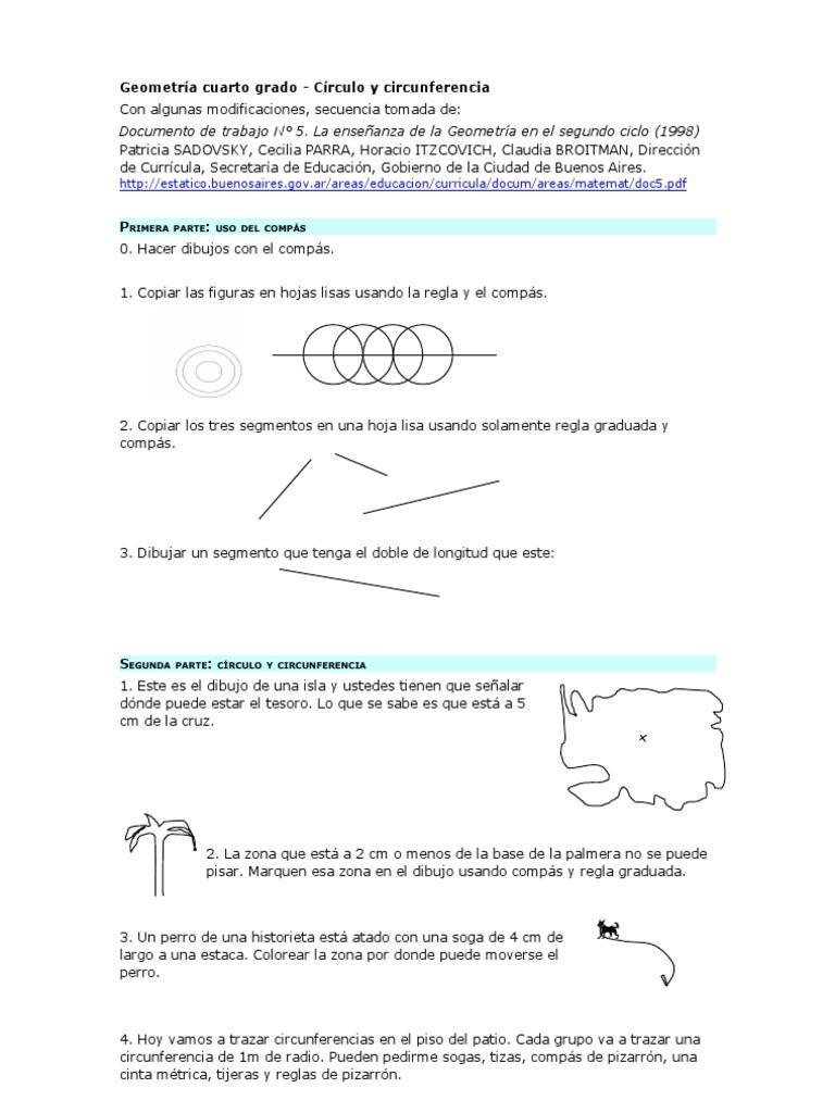 Secuencia Circunf 4to Grado Con Consignas