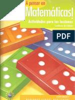 A pensar en Matemáticas - Cuaderno de Trabajo
