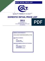 2011 Retail Price List