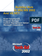 Building Web Sites With MSCMS 2002 and Vs