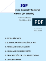 Test Inteligencia General y Factorial (IGF)