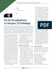 Von der Personalsoftware zur Enterprise 2.0-Technologie
