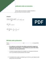División de un polinomio entre un monomio