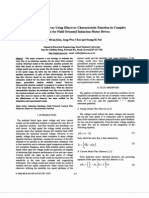 Novel Rotor Flux Observer Using Observer Characteristic Function in Complex Vector Space for Field Oriented Induction Motor Drives