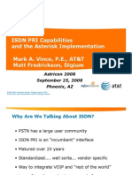 Isdn for Astricon 2008 Vince Fred Ricks On