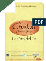 Carta de Cócteles y Licores Chakai