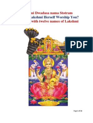 Lakshmi Dwadasa nama Stotram: How Will Lakshmi Herself
