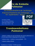 Diretriz de Embolia Pulmonar