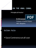 Surgery on the Anal Canal