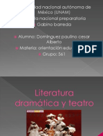 Literatura dramática y teatro