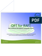 OPT for RAFT - MCPHS-Boston - 01 Nov 2011