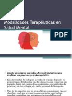 Modalidades Terapéuticas en Salud Mental