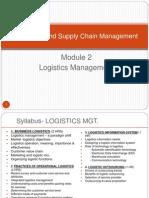 Lec2.1-OP & SCM- Logistics Mgt
