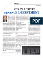 Spring 2011 - Finance Department Article