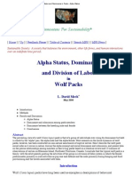 Wolf Status and Dominance in Packs -Alpha Status