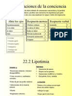 22-26 Alteraciones de La Cons Ciencia y Trastornos Neurologicos