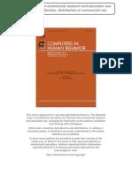MMORPGS and Cognitive Performance a Study With 1,280 Brazilian High School Sudents - Souza, Silva, Roazzi 2010 - CHB1361