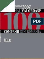 Top Cele Valoroase 100 Companii Romania 2007