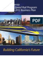 California High Speed Rail (HSR) 2012 Draft Business Plan