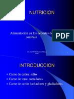 ALIMENTACION DEPORTES COMBATE