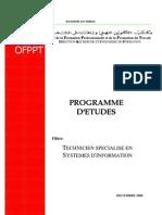 Programme études TSSI